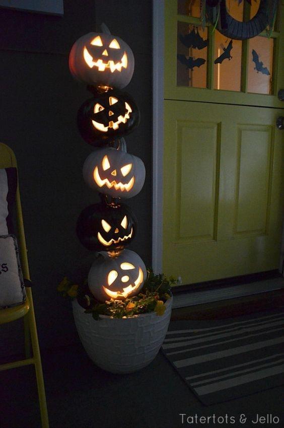 decoracion-casa-para-halloween-macetas