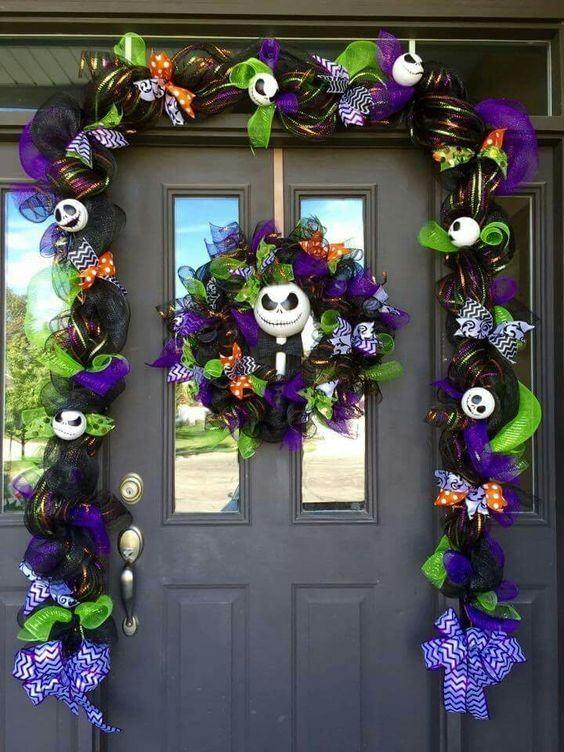 decoracion-puertas-halloween-corona