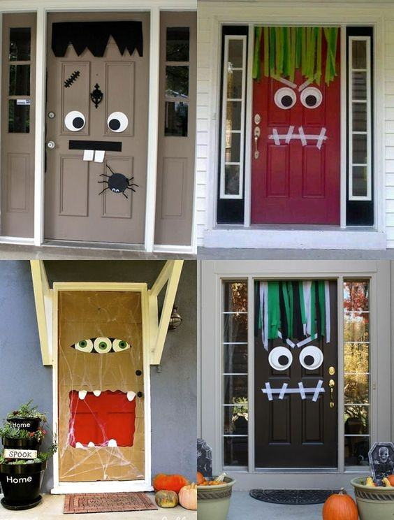 De 100 fotos con ideas de decoraci n halloween 2018 - Decoracion puertas blancas ...