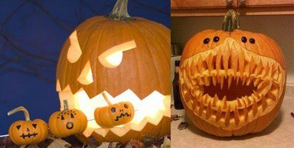 Decorate-pumpkins-for-halloween-teeth