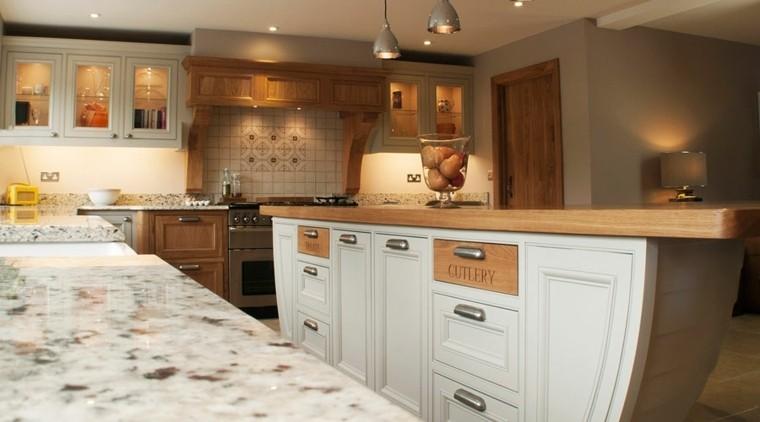M s de 100 fotos con ideas de cocinas de obra que te van a for Cocina obra