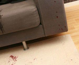 Cómo quitar manchas de sangre de un sillón o alfombra