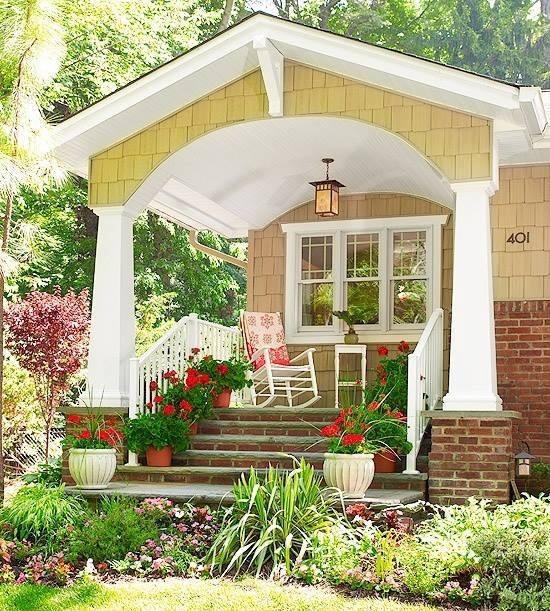 M s de 200 fotos de fachadas de casas modernas y bonitas for Porches de casas pequenas