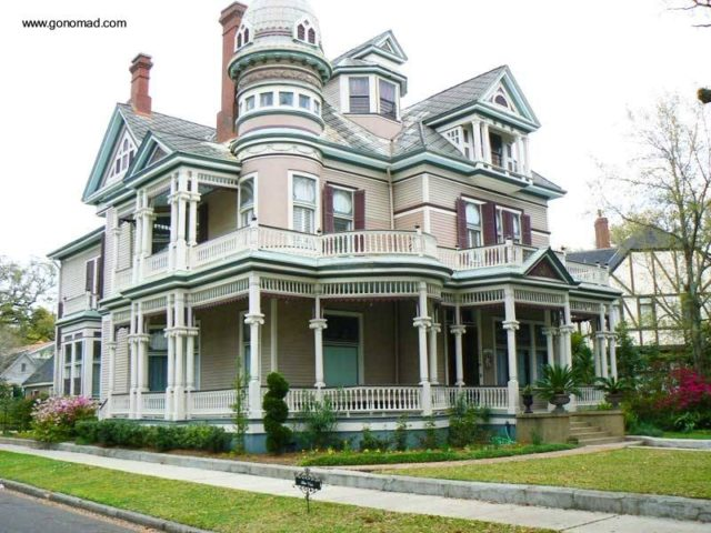 victorian-beige-and-green house