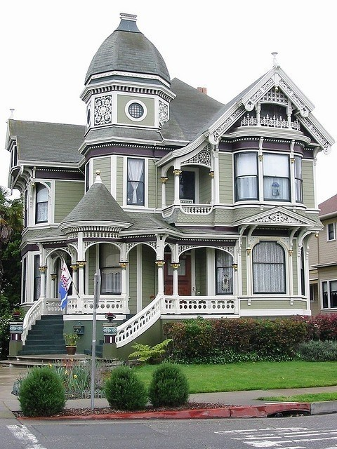 victorian-gray house