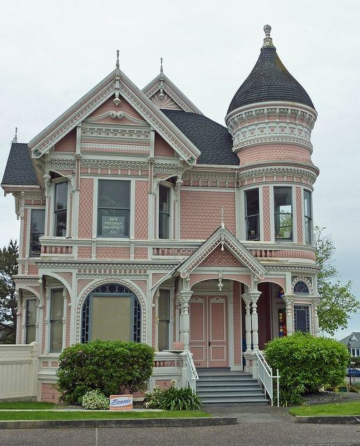 Victorian house-pink