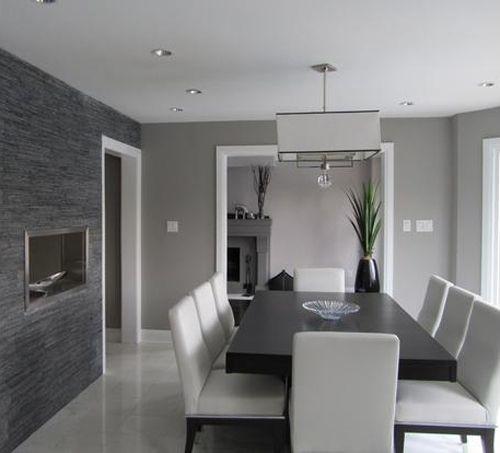 Fotos de comedores modernos que os van a encantar for Colores grises para paredes interiores