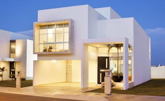 facades-of-houses-more-beautiful-and-modern-house-white-door-black
