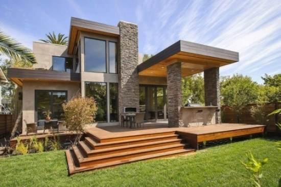 facades-of-houses-most-beautiful-and-modern-house-unevenness-wood