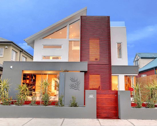 facades-of-the-houses-most-beautiful-and-modern-red-house
