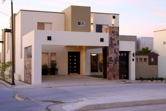 M s de 200 fotos de fachadas de casas modernas y bonitas for Colores claros para pintar una casa