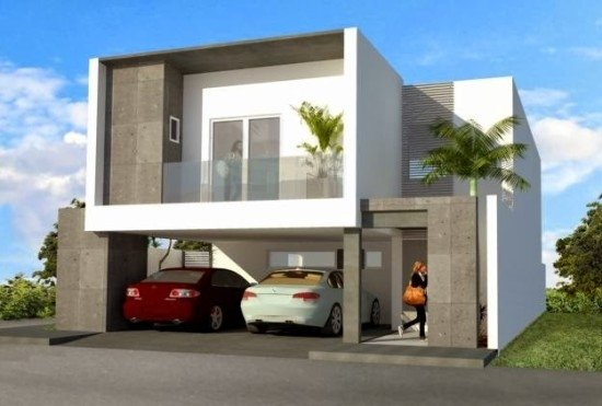 facades-of-the-houses-most-beautiful-and-modern-two-floors-cars