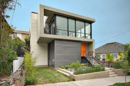 facades-of-the-houses-most-beautiful-and-modern-two-floors-orange-door