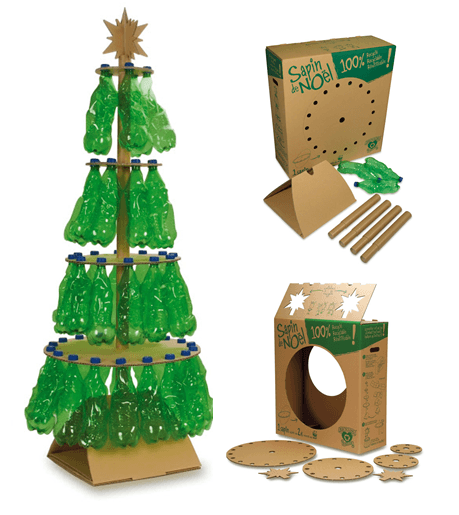 Tree-of-christmas-recycled-made-with-bottles-of-plastic