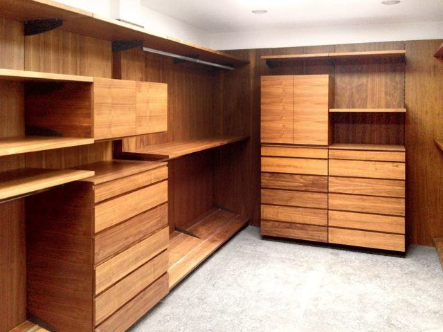De 100 fotos vestidores modernos y peque os for Modelos de zapateras de madera modernas