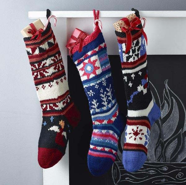 calcetines-de-navidad-de-ganchillo