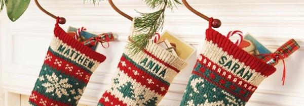 calcetines-de-navidad-ganchillo-verde-oscuro