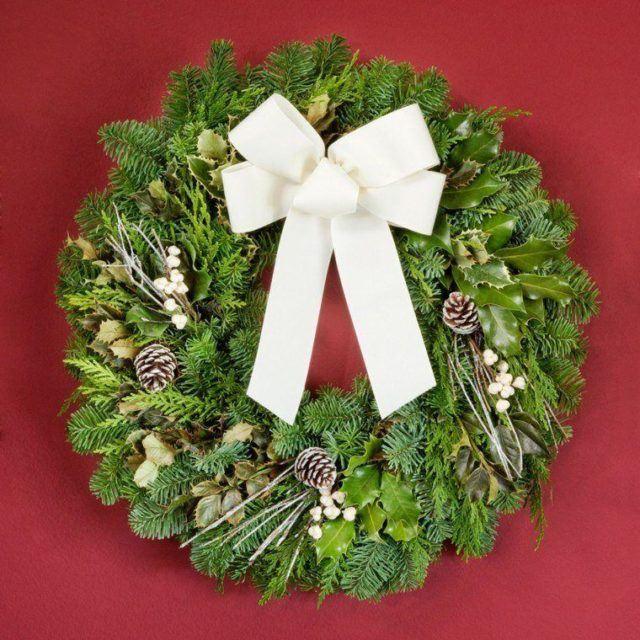 coronas-de-navidad-lazo-blanco