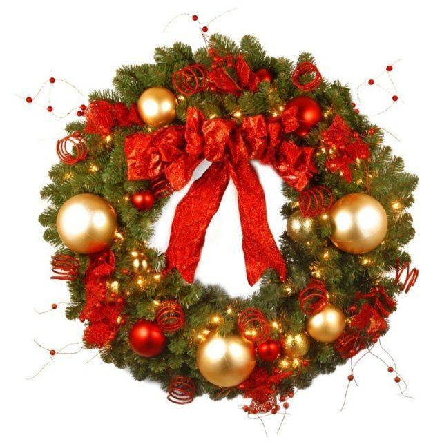 coronas-de-navidad-lazo-color-rojo