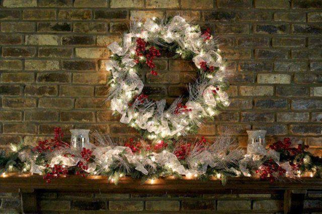 coronas-de-navidad-luces-blancas
