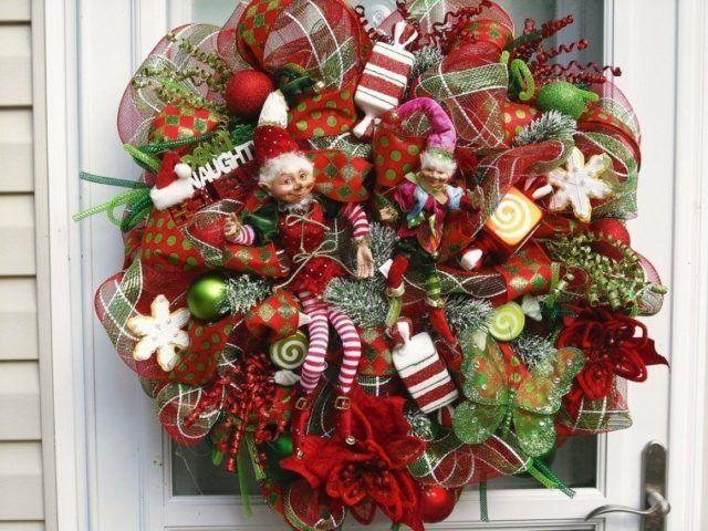 coronas-de-navidad-munecos-bolas