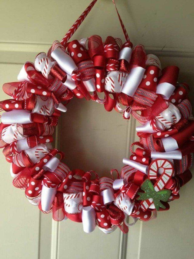 coronas-de-navidad-roja-blanca
