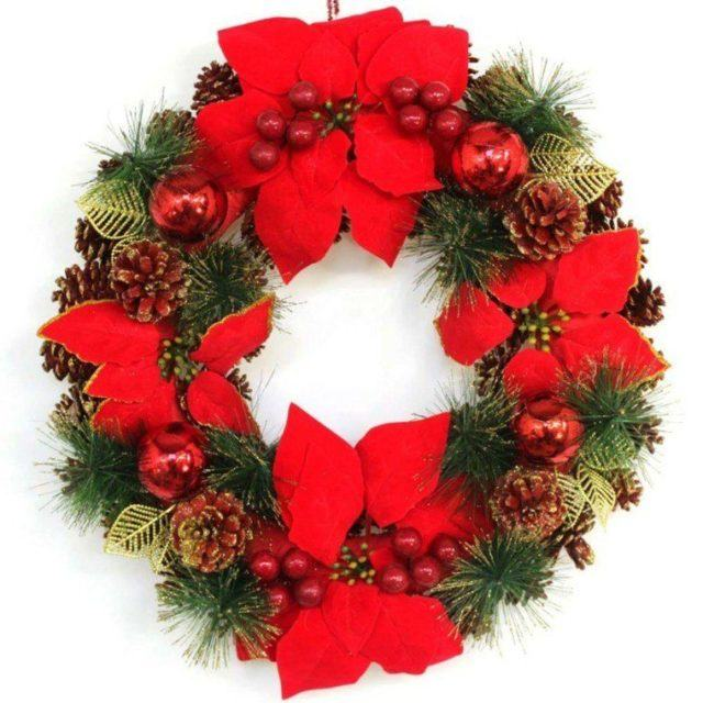 coronas-de-navidad-rojas-guirnalda