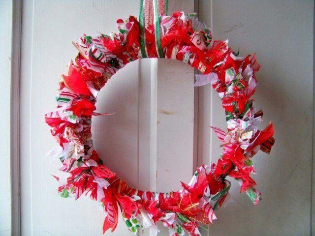 coronas-de-navidad-tiras-tela