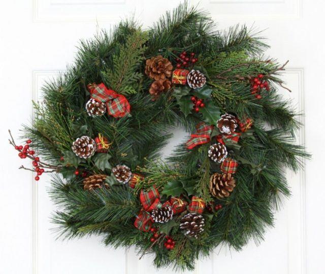 coronas-de-navidad-verde-pinas-pino