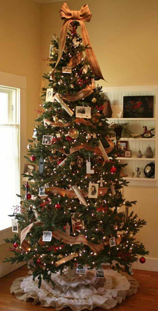 C mo hacer lazos de navidad de 50 fotos con ideas de - Como decorar un arbol de navidad azul ...