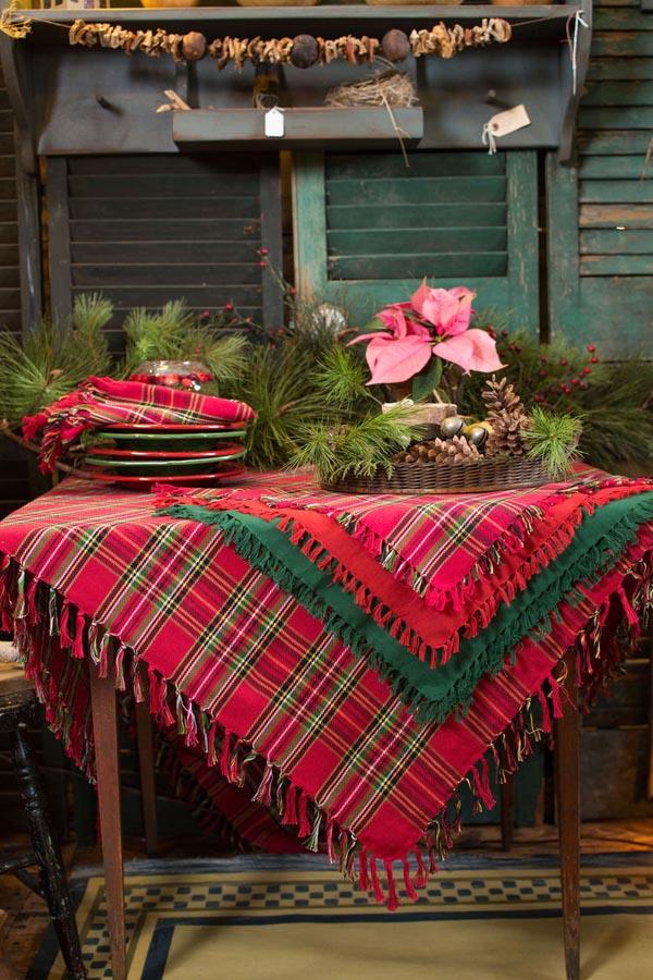 manteles-de-navidad-rojo-y-verde-cuadros