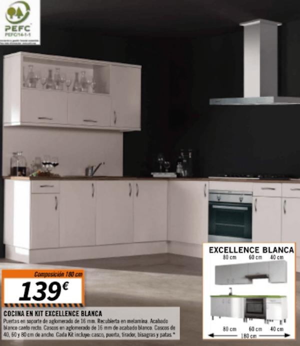 Cat logo de cocinas de bricomart 2018 for Comprar modulos de cocina en kit