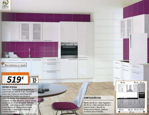 Catálogo de cocinas de Bricomart 2017