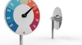 Un termómetro para el jadrín