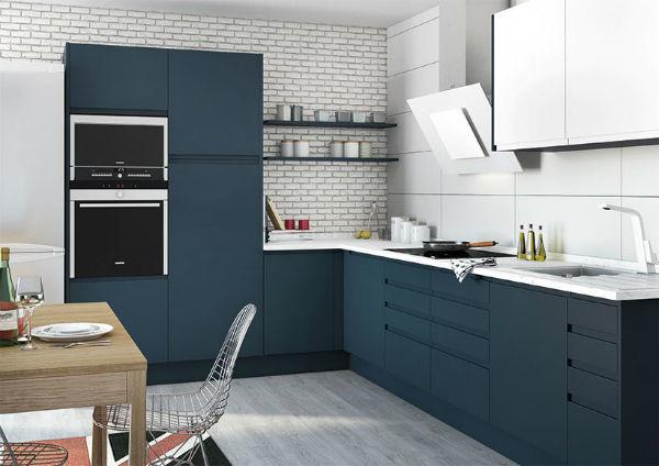 M s de 50 fotos de cocinas azules decoraci n muebles y for Cocina pintura pato azul