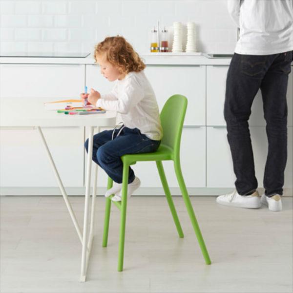 silla-taburete-verde