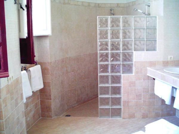 bano pequeno ducha pared cristal - Cuarto De Bao Pequeo
