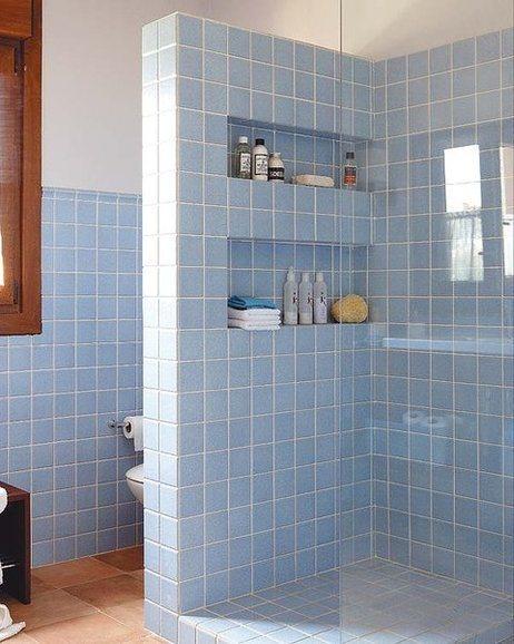 De 50 fotos de ba os peque os modernos con ducha 2020 - Cuartos de bano de obra ...