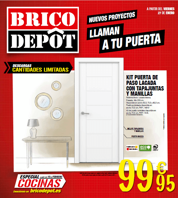 Brico depot cat logo de ofertas febrero 2017 for Bricodepot suelos baratos