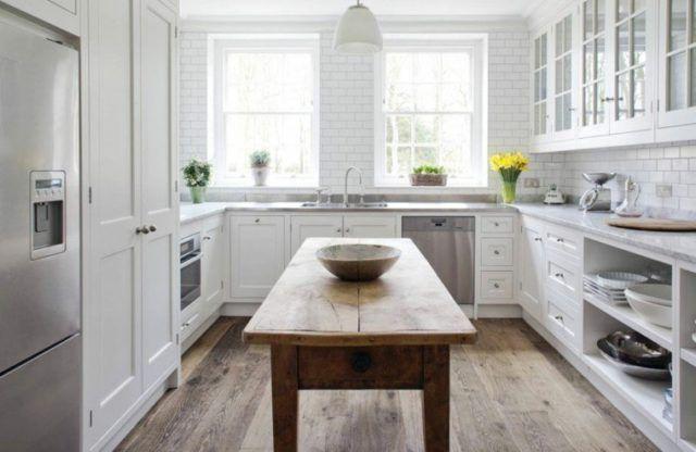 M s de 25 fotos con ideas de cocinas en u - Cocinas vintage blancas ...