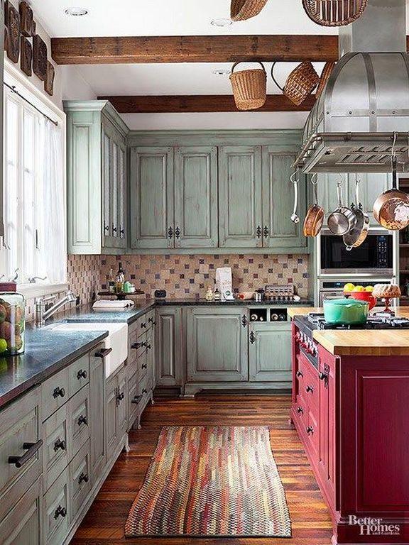 cocina-en-u-rustica