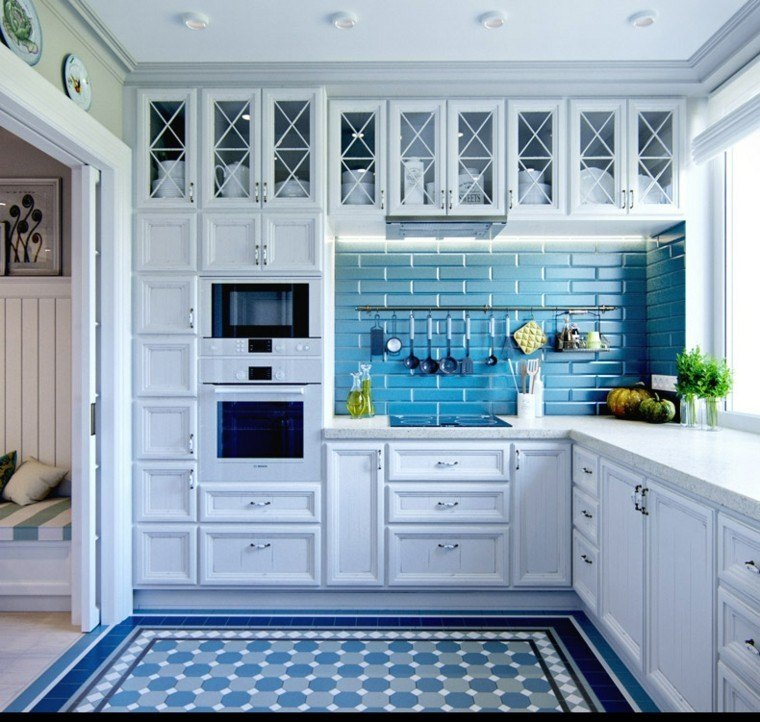 ms de fotos de cocinas azules decoracin muebles y