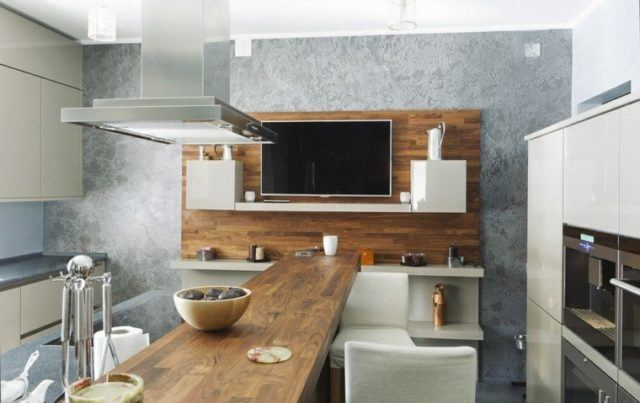 cocinas-con-barra-de-madera-larga