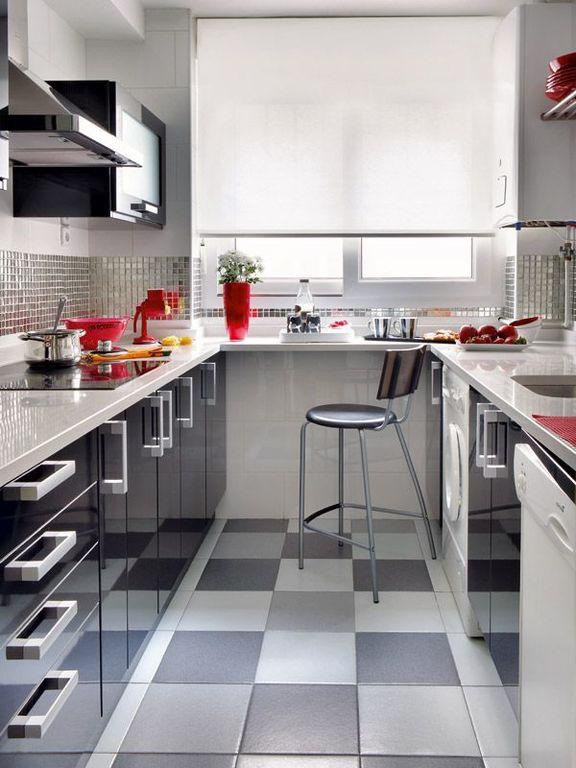 M s de 100 ideas de modelos de cocinas empotradas 2018 for Cocinas pequenas con lavanderia