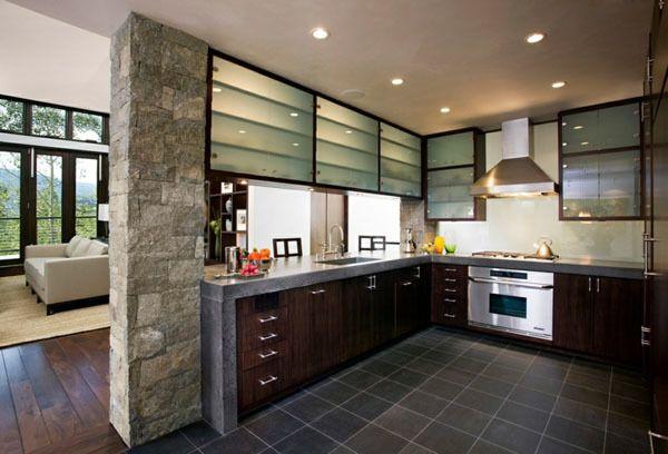 cocinas en l modernas piedra - Cocinas En Ele