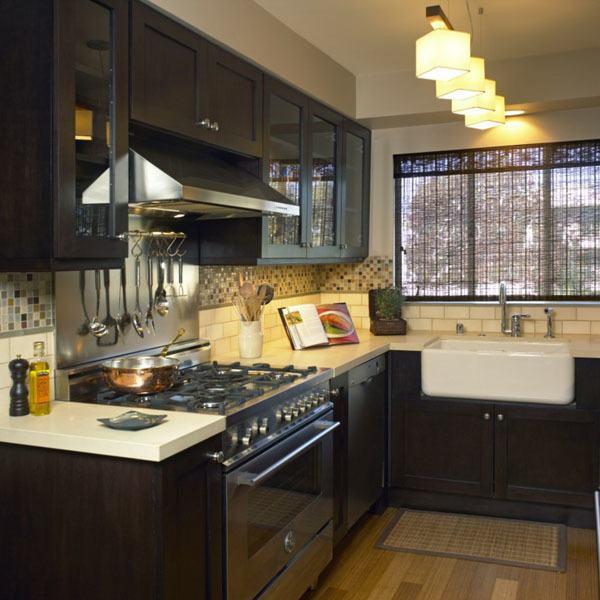 M s de 30 ideas de cocinas en l modernas for Muebles de cocina en l