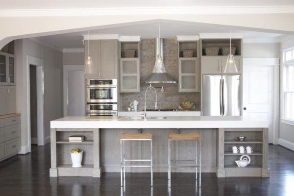 M s de 50 fotos con ideas de cocinas grises for Cocinas bonitas blancas
