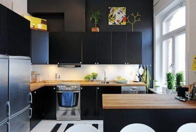 De 25 fotos con ideas de cocinas negras - Decoracion de cocinas americanas ...