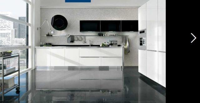 De 25 fotos con ideas de cocinas negras - Cocina blanca encimera negra ...