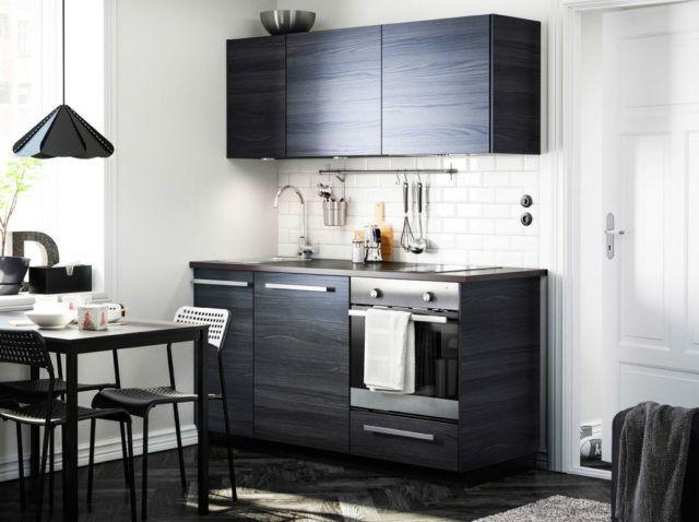 M s de 25 fotos con ideas de cocinas negras - Frente cocina ikea ...